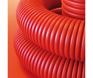Труба гофрированная ПНД с зондом d16мм оранж.(100 м) (93698)