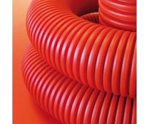 Труба гофрированная ПНД с зондом d25мм оранж.(75 м) (98221)