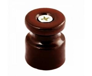 Изолятор керам.GE70025-04 д/нар Упак.40шт. D20х24 коричн. для витого каб. универсальный (407597)