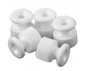 Изолятор керам.GE70025-01 д/нар Упак.40шт. D20х24 бел. для витого каб. универсальный (421482)