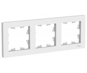 Атлас ATN000103 Рамка 3-местная бел.