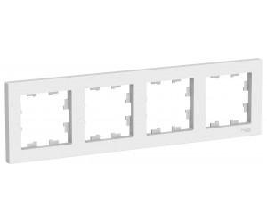 Атлас ATN000104 Рамка 4-местная бел.