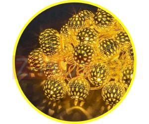 Гирлянда 14041 NGF-D003-30WW-230-золотые шарики(металл) Navigator (834296)