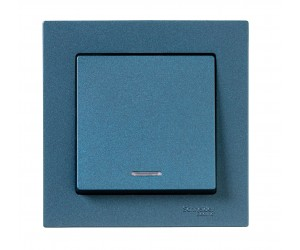 Атлас ATN000813 Механизм выкл. 1-кл. с подсв. изумруд (432304)