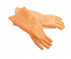 Перчатки латексные с хл/напылен L