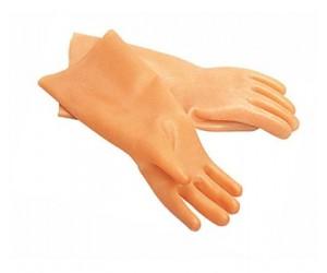 Перчатки латексные с хл/напылен M