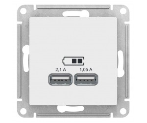 Атлас ATN000133 Розетка USB 2мест. белый