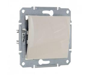 Седна Выключатель 1-кл. проходной бежевый SDN0400147