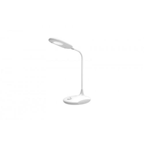 Настольная лампа LED UF-711 C01 6W(280Лм) 6000K пластик/бел.