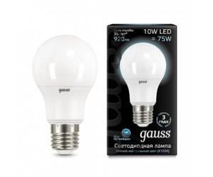 Лампа светодиодная А60 10W E27 4100K Gauss Filament
