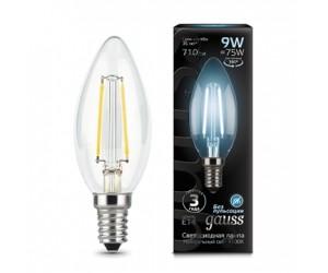 Лампа светодиодная свеча 9W E14 4100K Gauss Filament