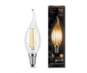 Лампа светодиодная свеча на ветру 9W E14 2700K Gauss Filament