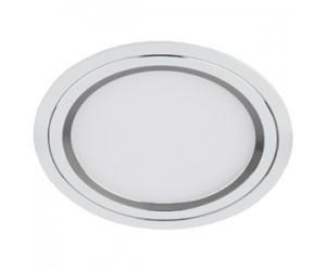Светильник светодиодный DK LED11-7 SL круглый, серебро ЭРА