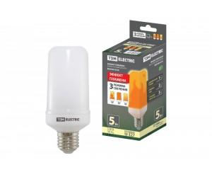 Лампа Светодиодная Т65-5 Вт-230 В-1500 К-E27 (65х138)   Эффект пламени TDM