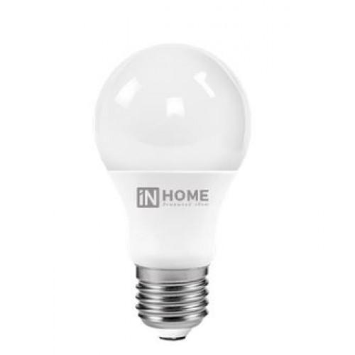 Лампа светодиодная A60 10Вт Е27 4000К 900Лм 230В IN HOME