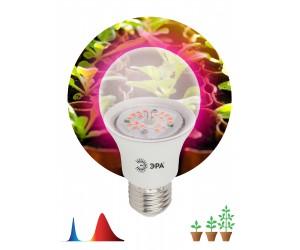 Лампа светодиодная FITO А60 10Вт Е27 прозач.(для растений) ЭРА