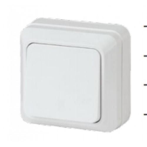 Выключатель 10АХ-250В о/у белый Intro Quadro Эра (2-101-01)