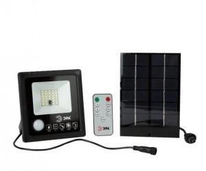 Прожектор светодиодный 20Вт 5000К 350Лм с датч. движ. на солнеч.батарее IP65 ЭРА